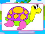 schildpad kleurplaat